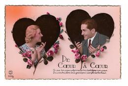 CPA FANTAISIE / COUPLE - DE COEUR A COEUR - Fantaisies