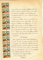 1931 DOCUMENTO CON 10 VIGNETTE COMITATO NAPOLETANO PER LE FAMIGLIE BISOGNOSE - Zonder Classificatie