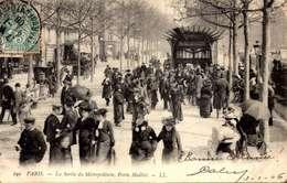 PARIS XVI° PORTE MAILLOT Série LL N° 299 STATION Du METRO Sortie Animée En 1904 /LOT  4001 - France