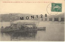 NOTRE DAME DE LA GARENNE (27)  LA DRAGUE ET VUE SUR LA TOUR ET LE BARRAGE DE PORT MORT - Unclassified