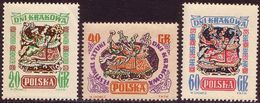 1955, Poland, Mi 917 - 919, Days Of Krakow. Lajkonk - Folklore. MNH** - Ongebruikt