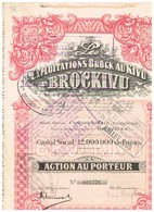 """Titre Ancien - Les Exploitations Brock Au Kivu """"BROCKIVU"""" - Société Congolaise à Responsabilité Limitée - Titre De 1928 - Afrique"""