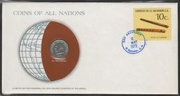 0140 - Numiscover / Enveloppe Numismatique - SALVADOR - 50 Centavos 1977 - El Salvador