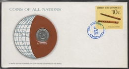 0140 - Numiscover / Enveloppe Numismatique - SALVADOR - 50 Centavos 1977 - Salvador