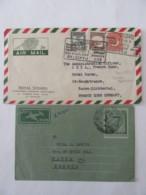 Pakistan - Un Aérogramme 6 Annas Circulé Vers Paris 1956 + Une Enveloppe Circulée Vers Baden (Zone Française) 1952 - Pakistan