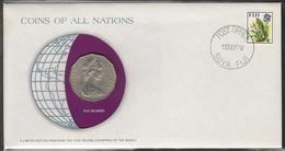 0141 - Numiscover / Enveloppe Numismatique - FIDJI - 50 Cents 1976 - Fidji