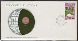 0144 - Numiscover / Enveloppe Numismatique - GAMBIE - 1 Butut 1974 - Gambia