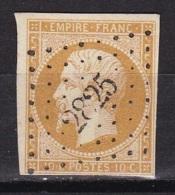 France N°13A (Napoleon 10c. Bistre) - 1853-1860 Napoleone III