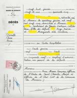 TIMBRES FISCAUX DE MONACO TIMBRE ETAT CIVIL MAIRIE DE MONACO N°39 1€ Rouge Carminé De 2002 - Fiscale Zegels