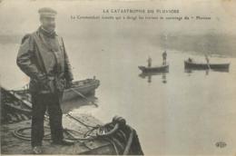 CALAIS  CATASTROPHE DU PLUVIOSE LE COMMANDANT AMETTE QUI A DIRIGE LES TRAVAUX DE SAUVETAGE - Calais