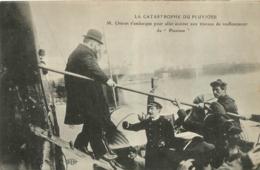 CALAIS  CATASTROPHE DU PLUVIOSE  MR CHERON EMBARQUE POUR ASSISTER AU RENFLOUEMENT - Calais