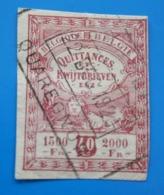 Belgie Quittance Etc Fiscal Timbre Europe  Belgique  Fiscaux  Timbre Oblitéré - Stamps