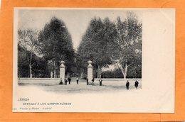 Lleida Lerida Spain 1900 Postcard Hauser Y Menet - Lérida