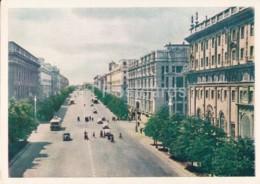 Minsk - Stalin Prospect - Avenue - 1956 - Belarus USSR -  Unused - Belarus