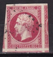 France N°17A (Napoleon 80 C. Carmin) + 5 Voisins - 1853-1860 Napoléon III