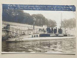 """CPA - Carte Photo - Sous-marin Le """"Mongolfier"""" - Pont De La Concorde - Paris - - Guerre 1914-18"""