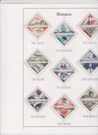 MONACO Timbres TAXE Série Complète 18 T Neufs Xx N°YT TA 39A à 55 - 1953 - Impuesto