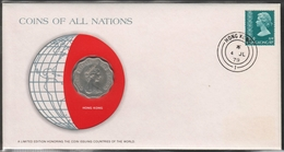 0151 - Numiscover / Enveloppe Numismatique - HONG KONG - 2 Dollars 1975 - Hong Kong
