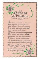 CPA FANTAISIE / LE LANGAGE DE L'ECRITURE - Unclassified