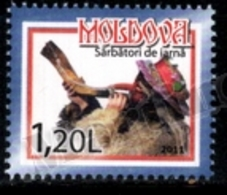 Moldova - Moldavie 2011 Yvert 672, Christmas. Music. Man Playing Instrument - MNH - Moldavië
