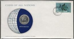 0154 - Numiscover / Enveloppe Numismatique - ILES VIERGES BRITANNIQUES - 25 Cents 1979 - Iles Vièrges Britanniques