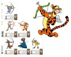 Ukraine 2020, Archery, Cartoon Players, Sheetlet Of 6v - Oekraïne