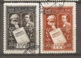 RUSSIE -  Yv N° 1199,1200  (o)  Marx, Engels  Cote 1 Euro  BE - Usati