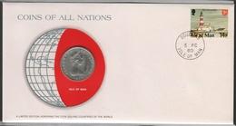 0155 - Numiscover / Enveloppe Numismatique - ILE DE MAN - 10 Pence 1978 - Monnaies
