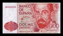 España 2000 Pesetas Juan Ramón Jiménez 1980 Pick 159 SC UNC - [ 4] 1975-… : Juan Carlos I