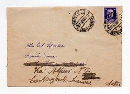 !!! OCCUPATION ITALIENNE DE MENTON, LETTRE DU 25/11/1942 - WW II