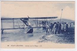 06 JUAN Les PINS Avions Sur La Plage ,hydravion - Francia