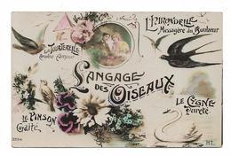 CPA FANTAISIE / LANGAGE DES OISEAUX - Fancy Cards