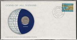 0156 - Numiscover / Enveloppe Numismatique - INDONESIE - 25 Rupiah 1971 - Indonésie