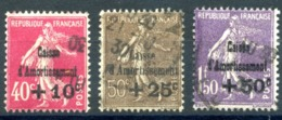 France N°266 à 268 - Caisse D'amortissement - Oblitérés - Cote 145€ - (F876) - Used Stamps