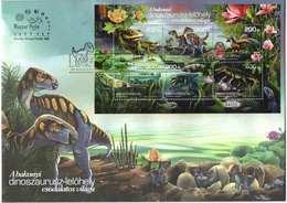Hungary 2020. Prehistoric Animals / Flowers / Fauna Nice Sheet On FDC - Hungary