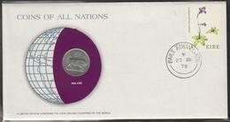 0157 - Numiscover / Enveloppe Numismatique - IRLANDE - 5 Pence 1976 - Irlande