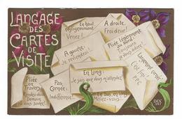 CPA FANTAISIE / LANGAGE DES CARTES DE VISITE - Fancy Cards