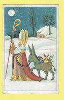 * Fantaisie - Fantasy (Sinterklaas - Saint Nicolas) Attelage, Donkey, Ane, Ezel, Toys, Speelgoed, Moulin, Snow, Lune - Saint-Nicolas