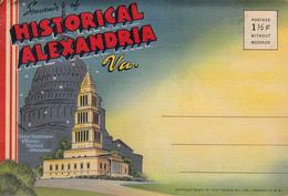 Vintage 1945-1950 - Historical Alexandria Virginia - Souvenir Folder With 18 Views - Unused - Alexandria