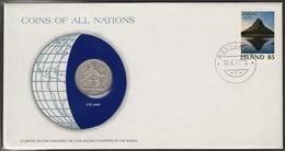 0158 - Numiscover / Enveloppe Numismatique - ISLANDE - 10 Kronur 1978 - Islande