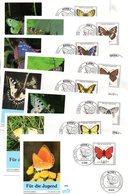 """BRD 8 Schmuck-FDC """"Jugend: Gefährdete Schmetterlinge"""" Mi. 1512/19 ESSt 9.4.1991 BONN 1 - FDC: Covers"""