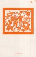 12 CPA SOUS POCHETTE ?   CHINE---LES PAPIERS DECOUPES CHINOIS---FORMAT CPA 98 * 152mm--pochette 104 * 154mm---1955 - Chine