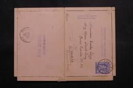 BELGIQUE - Entier Postal De Roulers Pour La Tunisie En 1895 - L 54656 - Enteros Postales