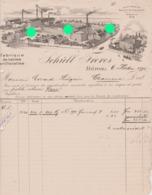 DUREN SCHULL FRERES 1898 FABRIQUE DE LAINES ARTIFICIELLES Vers Evrard Liègeois Chaineux - Allemagne