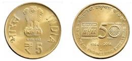 2014 Indien India 5 Rupees (Golden Jubilee Of Bharat Heavy Electricals - BHEL) Commemorative Münze Asia Coin - Inde