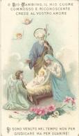 Santino Natività Con Inno A Gesù Bambino Imprimatur 1899 12,3 X 7,0 Cm (1402) - Images Religieuses