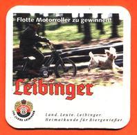Sous Bock Coaster Bière Leibinger Brasserie En Allemagne - Mobylette - Chien Caniche - Sous-bocks