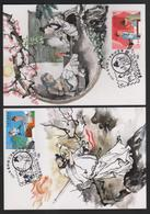 R.O CHINA(Taiwan)- Maximum Cards - Chinese Idiom Stories  (4V) - 1945-... Repubblica Di Cina