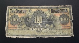 Dominion Of Canada 100 Dollars 1925 Extremely Rare Bank Of Nova Scotia Number 01138 - Canada