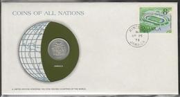 0161 - Numiscover / Enveloppe Numismatique - JAMAIQUE - 10 Cents 1979 - Jamaique